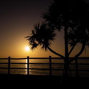 島尻線の朝日